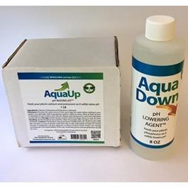 Aqua Up Aquaponics pH Kit, Aqua Down pH Lowering agent - Aquaponics Supplies