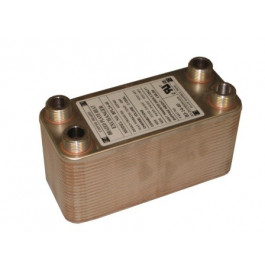 20 Stainless Steel Brazed Plate Heat Exchanger, 3 x 8, 12,000 BTU
