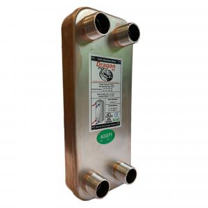 10 Stainless Steel Brazed Plate Heat Exchanger, 20,000 BTU