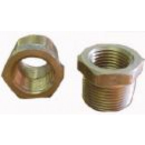 "Brass Reducer Bushing 1"" MPT x 1/2"" FPT"