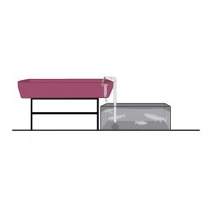 AquaParts S1 Aquaponics Plumbing Kit, Siphon drainage, 1-Bed