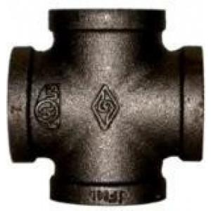 "1 1/4"" Black Iron Cross - Black Pipe Fittings"