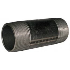 "1"" x 2"" Black Nipple - Black Pipe Fittings"