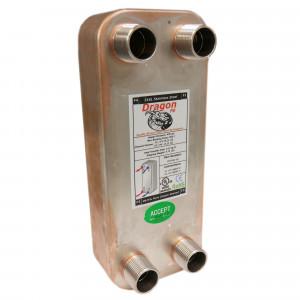 20 Stainless Steel Brazed Plate Heat Exchanger, 40,000 BTU