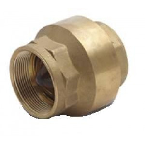 """1/2"""""""" In-Line Check Valve Cash Acme 22509-0000 - Brass Fitting"""