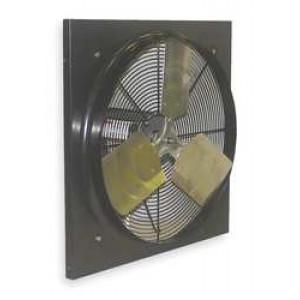 "Dayton Exhaust Fan 18"" Blade Dia, 2652 CFM, 115 v, 22"" x 22"""