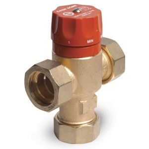 "Cash Acme Heat Guard Tempering Valve, 1"" Sweat, 110-HX 24177-0000 - Brass Fittings"