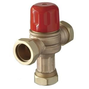 "Cash Acme HeatGuard Tempering Valve, 1"" Sweat, 115-H 24185-0000 - Brass Fitting"