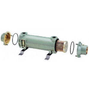 Cupro-Nickle Tube & Shell Heat Exchanger, 650,000 BTU