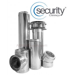 """Security Chimney Stainless Steel Pipe 6""""x48"""""""