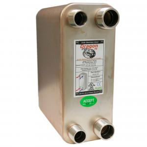80 Stainless Steel Brazed Plate Heat Exchanger, 200,000 BTU