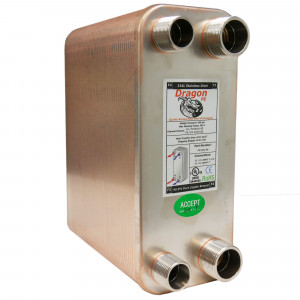 90 Stainless Steel Brazed Plate Heat Exchanger, 225,000 BTU