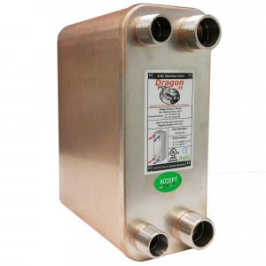 90 Stainless Steel Brazed Plate Heat Exchanger, 225,000 BTU