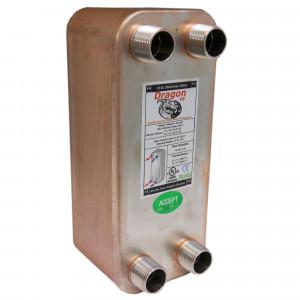 40 Stainless Steel Brazed Plate Heat Exchanger, 75,000 BTU