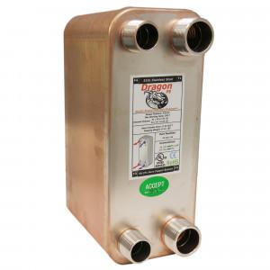 60 Stainless Steel Brazed Plate Heat Exchanger, 150,000 BTU