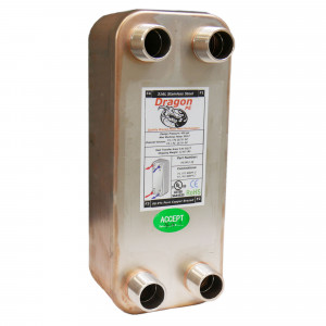 30 Brazed Plate Heat Exchanger, 60,000 BTU